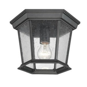 Games Acclaim (Acclaim 5275BK/SD Dover Collection 1-Light Ceiling Mount Outdoor Light Fixture, Matte Black by Acclaim)