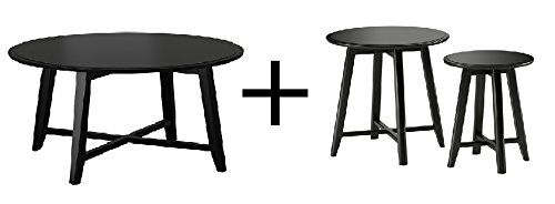 IKEA Coffee table, black and Nesting tables, set of 2, black