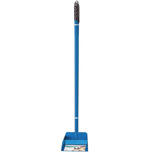 Flexrake Standard Poop Pet Scoop with 3-Feet Aluminum Handle, Blue ()