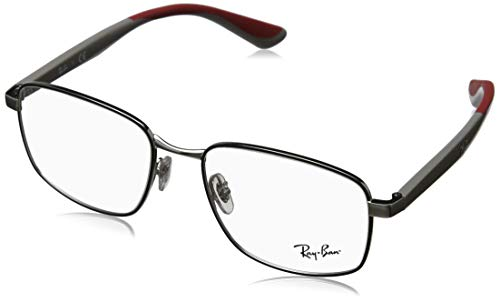 Ray-Ban 55 mm 0RX6423 Silver On Top Black One Size
