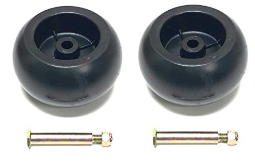 (2 Deck Wheels + Shoulder Bolts, Lock Nuts For 133957 174873 532133957 532174873 Craftsman Poulan Husqvarna. MTD 734-03058, 753-04856. Murray 92683, 92265. John Deere M84690. Ariens 03471700, 03905600)