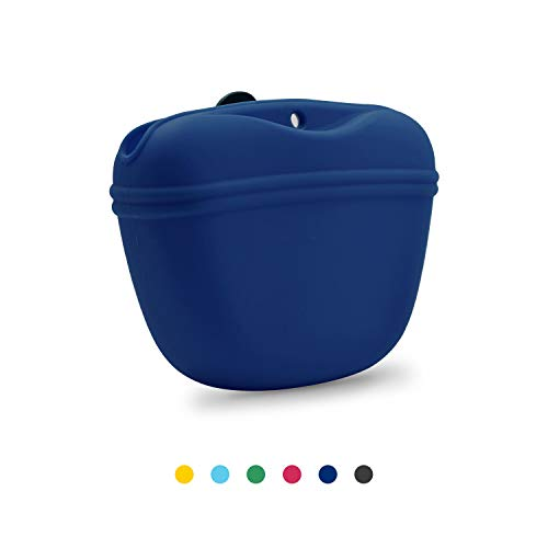 AUDWUD- Silicone Dog Treat Training Pouch - Clip on Portable Training Container - Convenient...