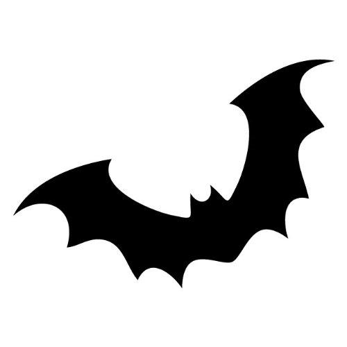 Bat Stencil Made from White 4 ply Mat Board Bat Stencil