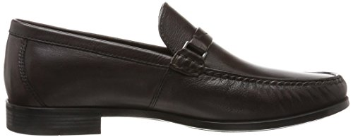 Fudge Ecco Moc para Hombre Marrón Mocasines Dress YpqO0F