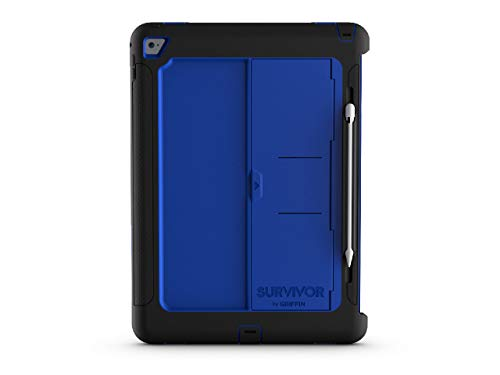 Griffin Survivor Slim for iPad Pro 12.9-inch, Black/Blue - Survivor Slim for iPad Pro is a Triple-Threat: Drop Protection, Screen Protection, and Designed t