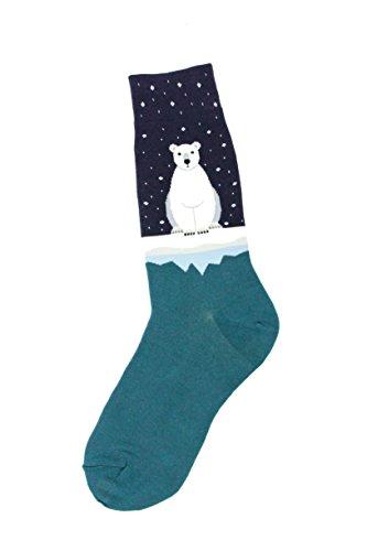 - Foot Traffic - Men's Animal-Themed Socks, Polar Bear (Men's Shoe Sizes 7-12)