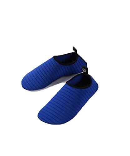 Zzlay Unisexe Chaussures De Leau À Séchage Rapide Aqua Chaussettes Plage Pieds Nus Piscine Surf Exercice De Yoga Bleu