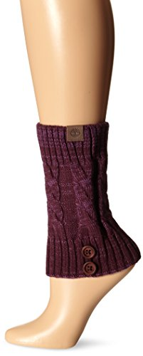 Timberland Womens Marled Boot Cuffs, Grape Wine, One Size
