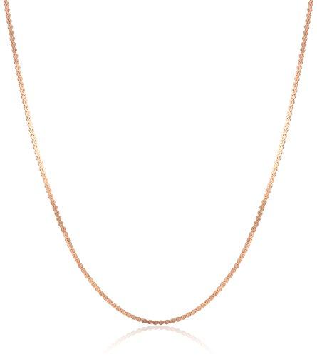 Amazon CollectionCadena de serpentina ligera de oro de 14 quilates, 0.8 mm