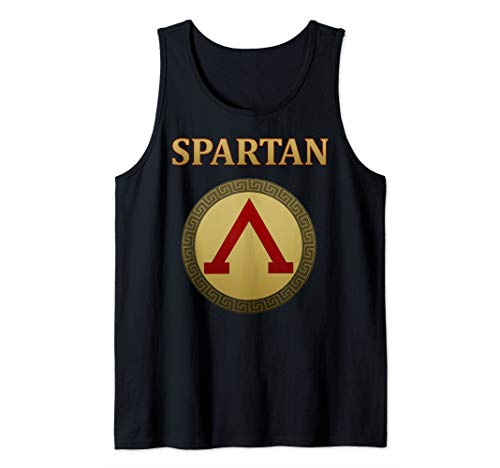 Ancient Spartan Shield Hoplite of Greece Tank Top