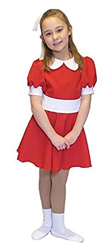 Dance-Musical-Theatre-Stage-Panto Short Annie Dress Child's Fancy Dress Costume - All Ages (Teen) -