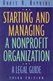 img - for Starting & Managing a Nonprofit Organization - A Legal Guide (3rd, 01) by Hopkins, Bruce R [Paperback (2000)] book / textbook / text book