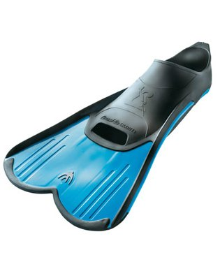 Cressi Light Short Fins for Training Recreational Swimming and Snorkeling (Blue, Mens 5.5-6.5, Womens 7-8)