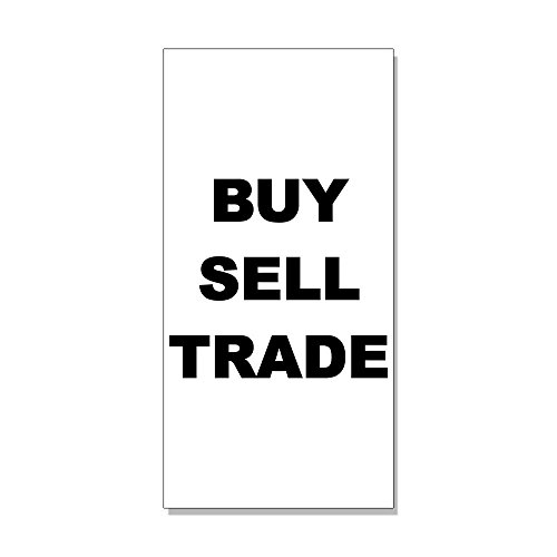 Buy Sell Trade Black DECAL STICKER Retail Store Sign Sticks to Any Surface