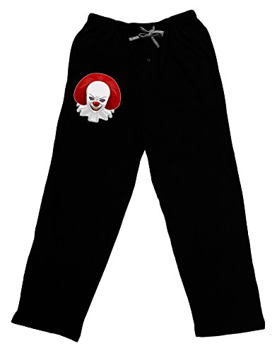 (TooLoud Scary Clown Face 2 - Halloween Adult Lounge Pants - Black-)