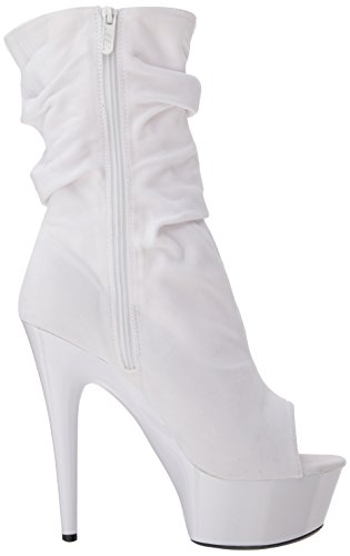 Women's Bootie Ankle Scrunch 609 6 M 6 US Shoes White Ellie US 5SwqXIBqx