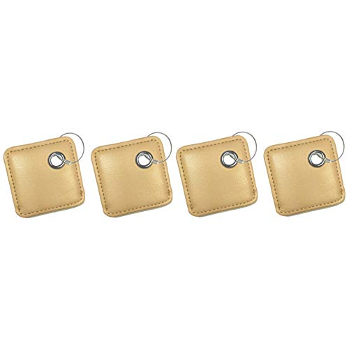 all4fit Fashion Key Chain Cover Style Accessories for Tile Skin Phone Finder Key Finder Item Finder (only case, NO Tracker Included). for Old Mate and New ttile Mate with Removable Battery. Khaki X 4 ()