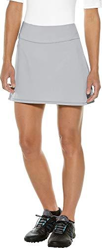 (Coolibar UPF 50+ Women's Grand Slam Tennis Skort - Sun Protective (Small- Cool Grey))