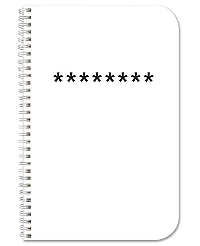 BookFactory Password Journal/Password Organizer/Password Book/Logbook/Password Keeper, 120 Pages, 3 1/2