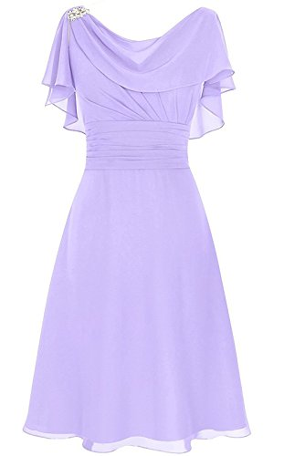 b7dfbf64b8 Home Homecoming Dresses MenaliaDress Women s Chiffon Short Gown Neck Mother  of Bride Dress Prom Gown M086LF Violet US12.   