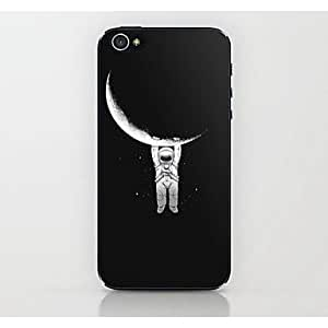PEACH Seize The Moon Astronauts Pattern Hard Case for iPhone 4/4S