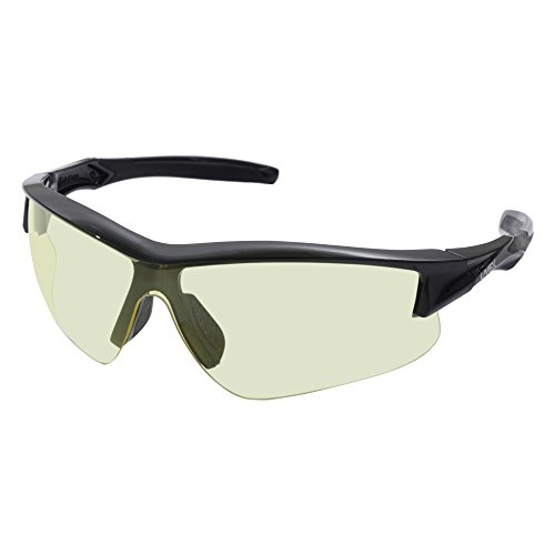 Howard Leight by Honeywell Uvex Acadia Low-Light Shooting Glasses with Uvextreme Plus Anti-Fog Lens Coating, Amber Lens (R-02215)