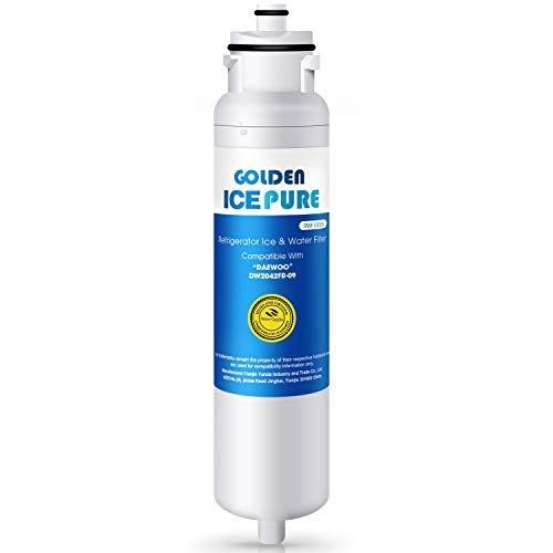 Golden Icepure DW2042FR-09 Refrigerator Water Filter, Compatible with Daewoo DW2042FR-09, Kenmore 46-9130, Aqua Crystal DW2042F-09 and More (Daewoo Refrigerator Water Filter)