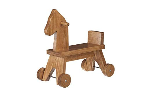 Eco-Friendly Wooden Toy Riding Horse (Harvest Finish)