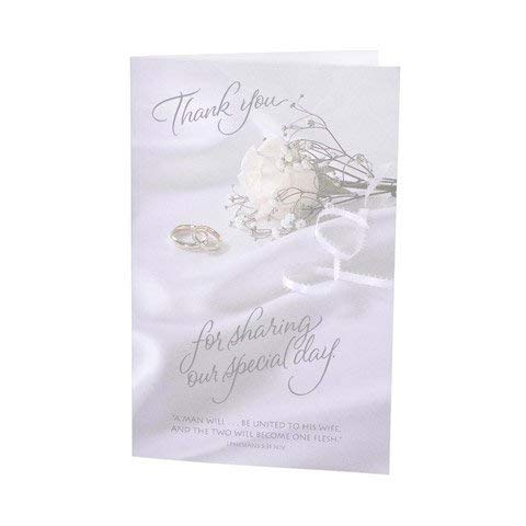 Darice VL6120 Thank You for Sharing Wedding Program Card, 100-Pack]()