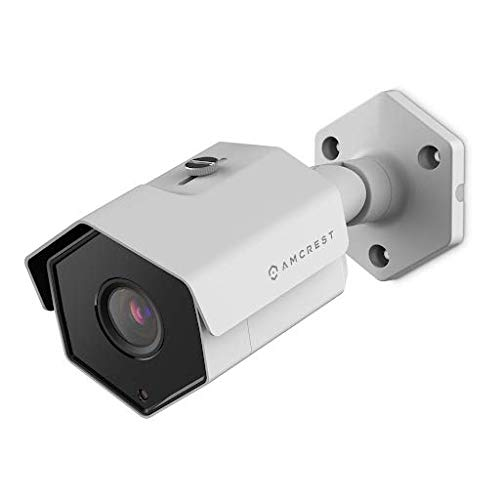 Amcrest 5MP Outdoor PoE Camera, UltraHD Security IP Bullet Camera, (White)