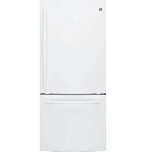Ge White Bottom Freezer Refrigerator - 1