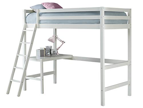 Hillsdale Furniture 2179-320 Hillsdale Caspian Twin Loft Bed, White (Loft Desk Bed White)