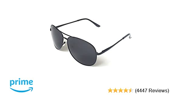 1158cf2339 Amazon.com  J+S Premium Military Style Classic Aviator Sunglasses ...