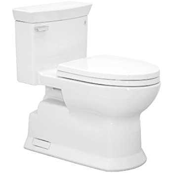 TOTO MS964214CEFG01 Eco Soiree Elongated One Piece Toilet With Chrome Plated Sanagloss Cotton