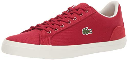 Lacoste Men's Lerond Sneaker red/off white 12 Medium US