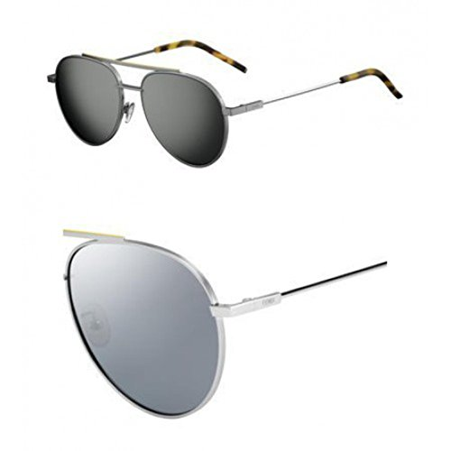 Sunglasses Fendi 222 /F/S 06LB Ruthenium / T4 black mirror - Buy Fendi