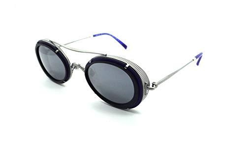 8091797b8b0c9 Matsuda 2871H MNV Sunglasses 48-26-145 Matte Navy Silver Mirror Streampunk