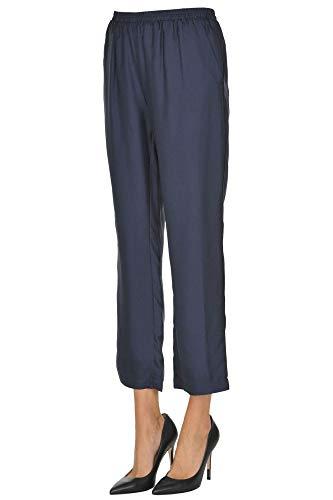 Mcglpnp000005026e Gold Pantaloni Hawk Blu Donna Seta 44R0q6