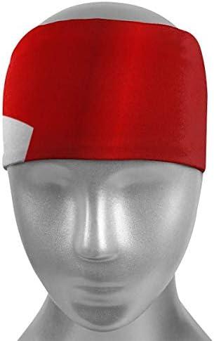 Braccialetto sportivo con bandiera inglese, fascia per sudore e sudore per uomini e donne