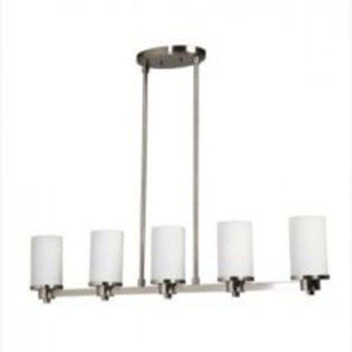 - Artcraft Lighting Parkdale 5-Light Island Light, Polished Nickel