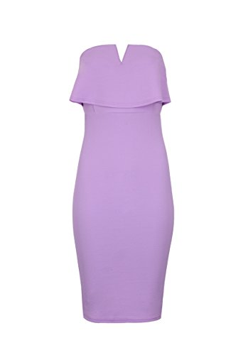 AX Bodycon Notch Dress Front Paris Lilac Women's rwIRr6