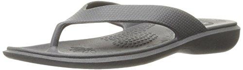 Okabashi Women's Maui Thong Flip Flop Sandals (Slate, M/L)