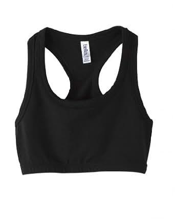 Ladies' Nylon/Spandex Sport Bra (Small, Black)