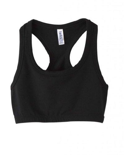 Bella Ladies Nylon/Spandex Sports Bra, Medium, Black