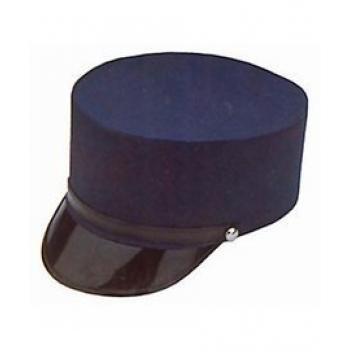 Adult  Navy Blue Train Engineer Conductor Driver Hat Costume -