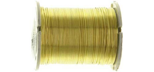 Gold Plastic Wire (Beading Wire, 28 Gauge, Gold, 17yds (Pack of 1))