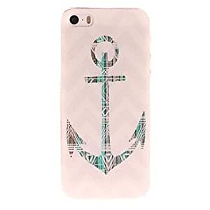 YULIN Green Anchor and Stripes Pattern PC Hard Case for iPhone 5/5S