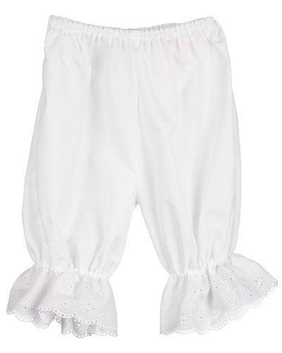 Little Zazzy Baby Infant White Pantaloon Pettipants Bloomer Under-pants, Size -