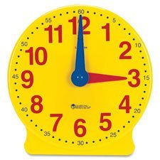 Learning Clock,Big Time, 13-1/4''H, GR K-4, Multi, Sold as 1 Each by Learning Resources