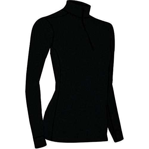 polar-max-womens-micro-h2-zip-mock-tee-black-large